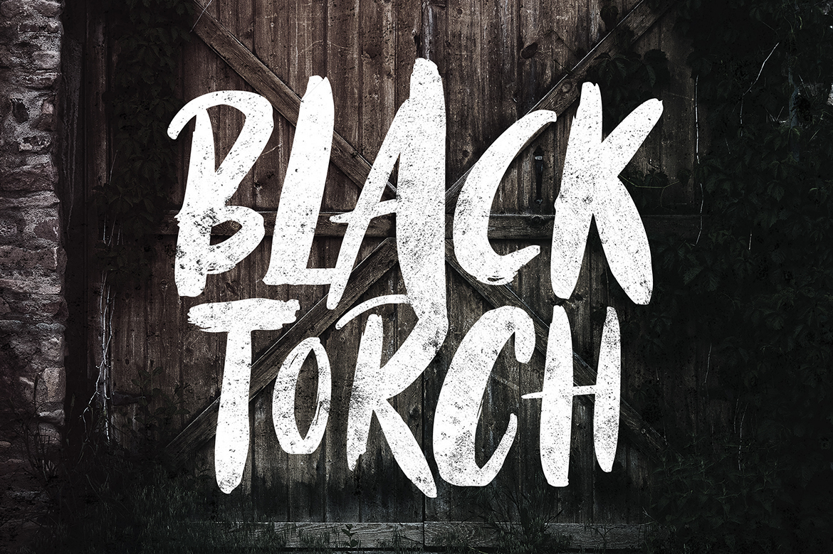 Black Torch - Dry Brush Font example image 3