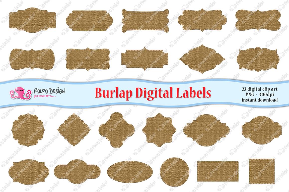 Burlap Digital Labels example image 3