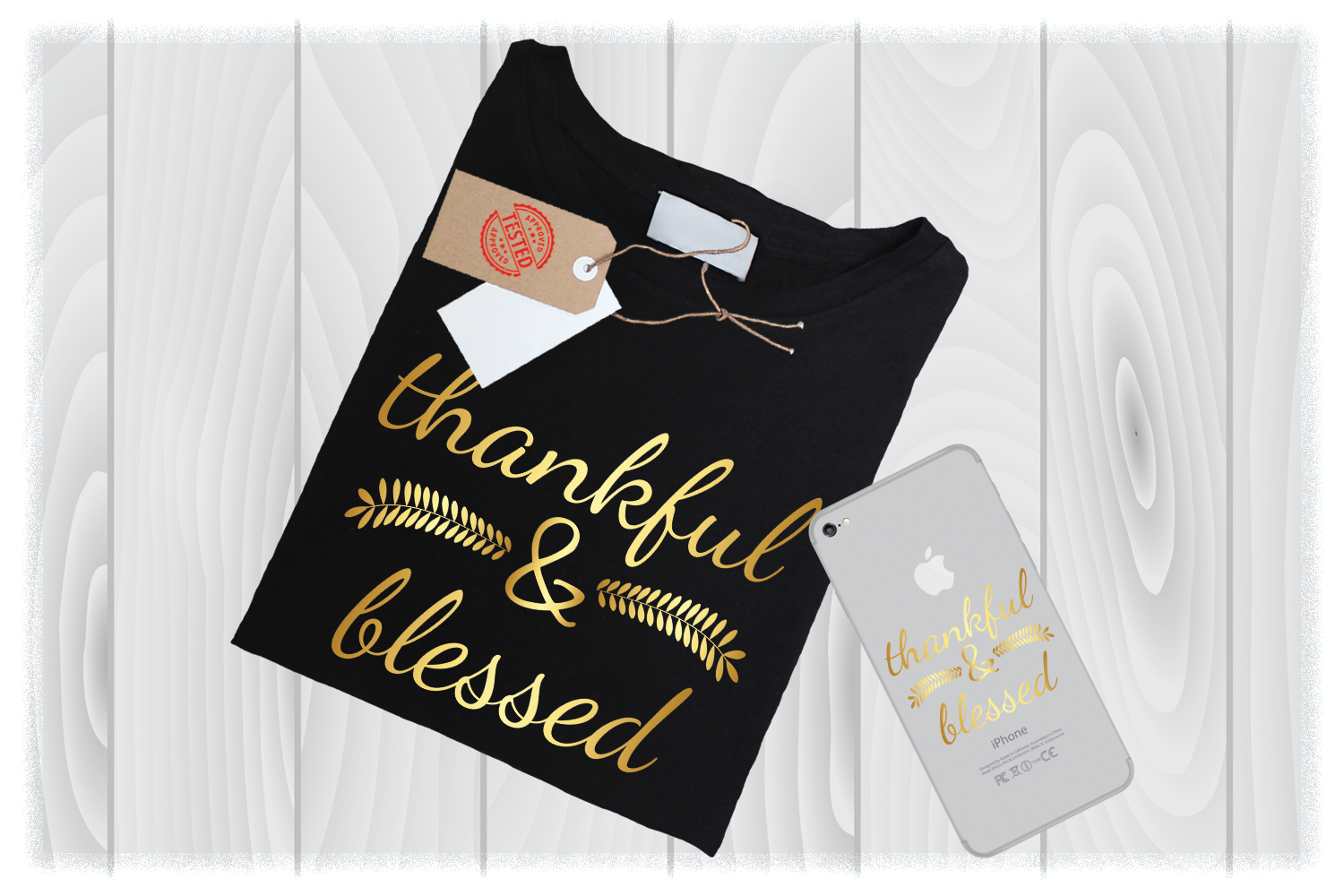 Thankful and Blessed SVG Files for Cricut Designs example image 1