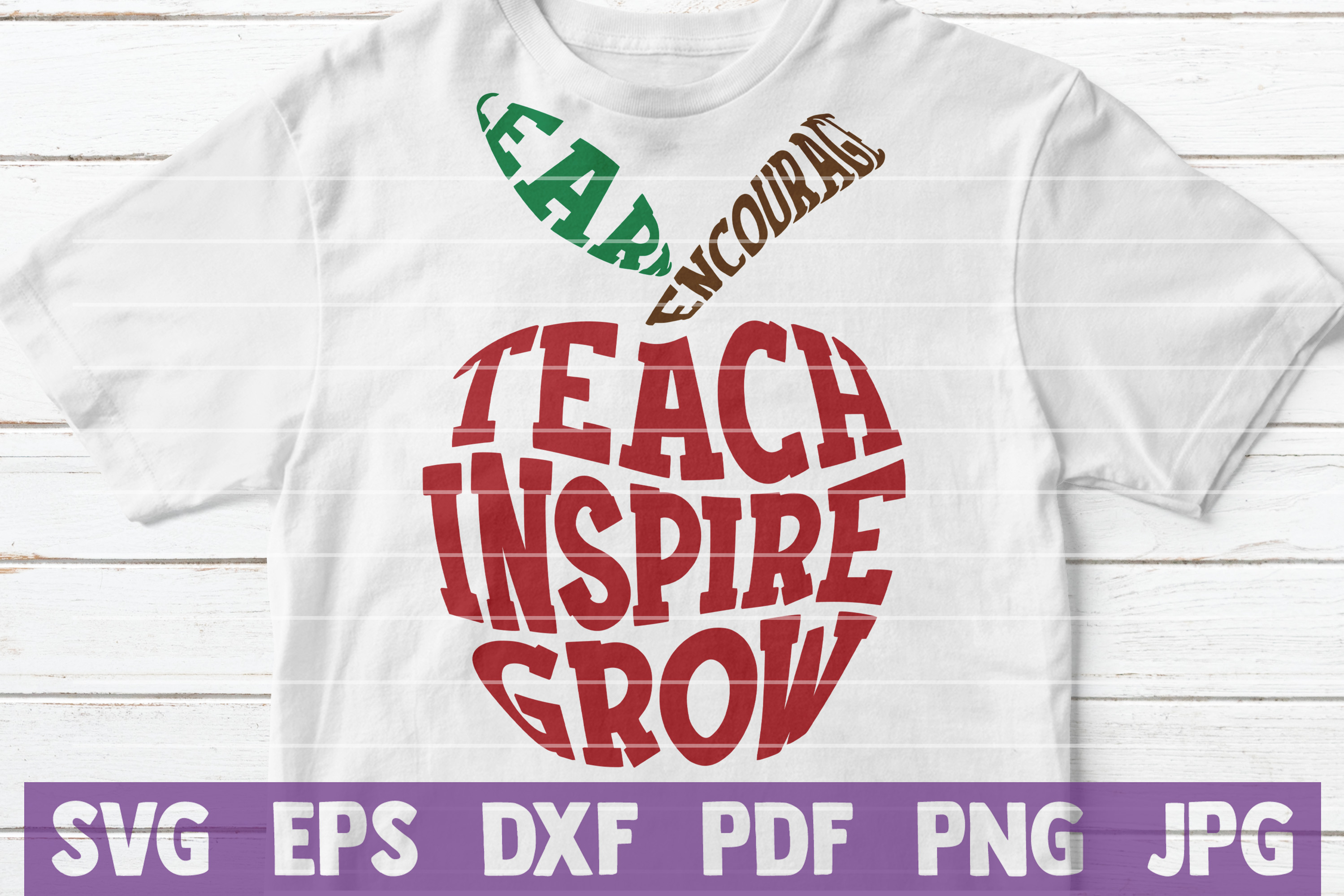 Teacher Apple SVG Cut File   commercial use example image 2