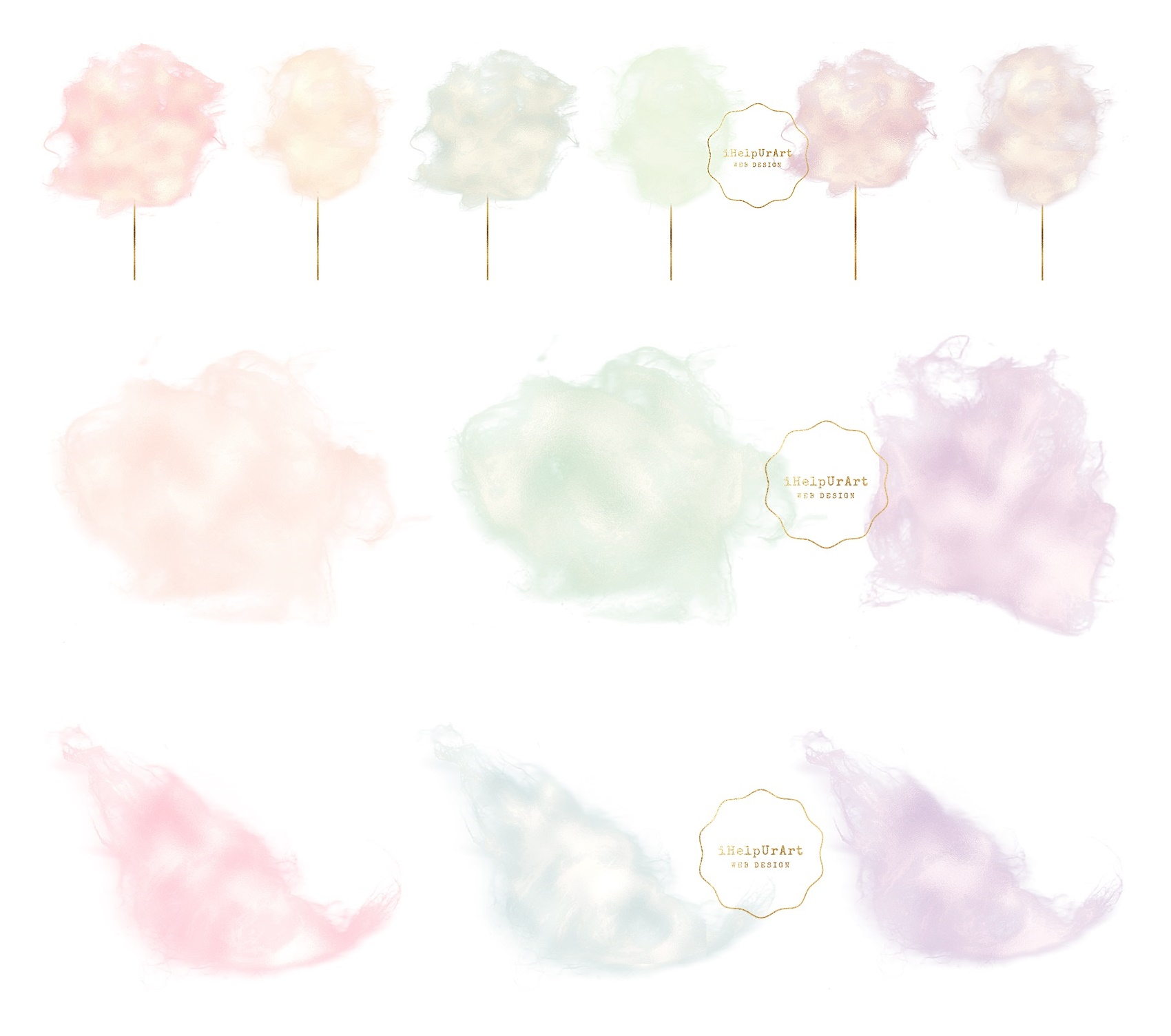 Cotton Candy Clipart example image 2