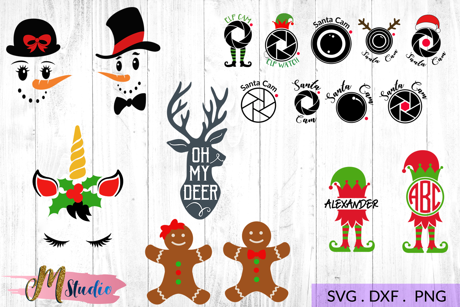 The big christmas svg bundle, Christmas SVG Cut File. example image 3