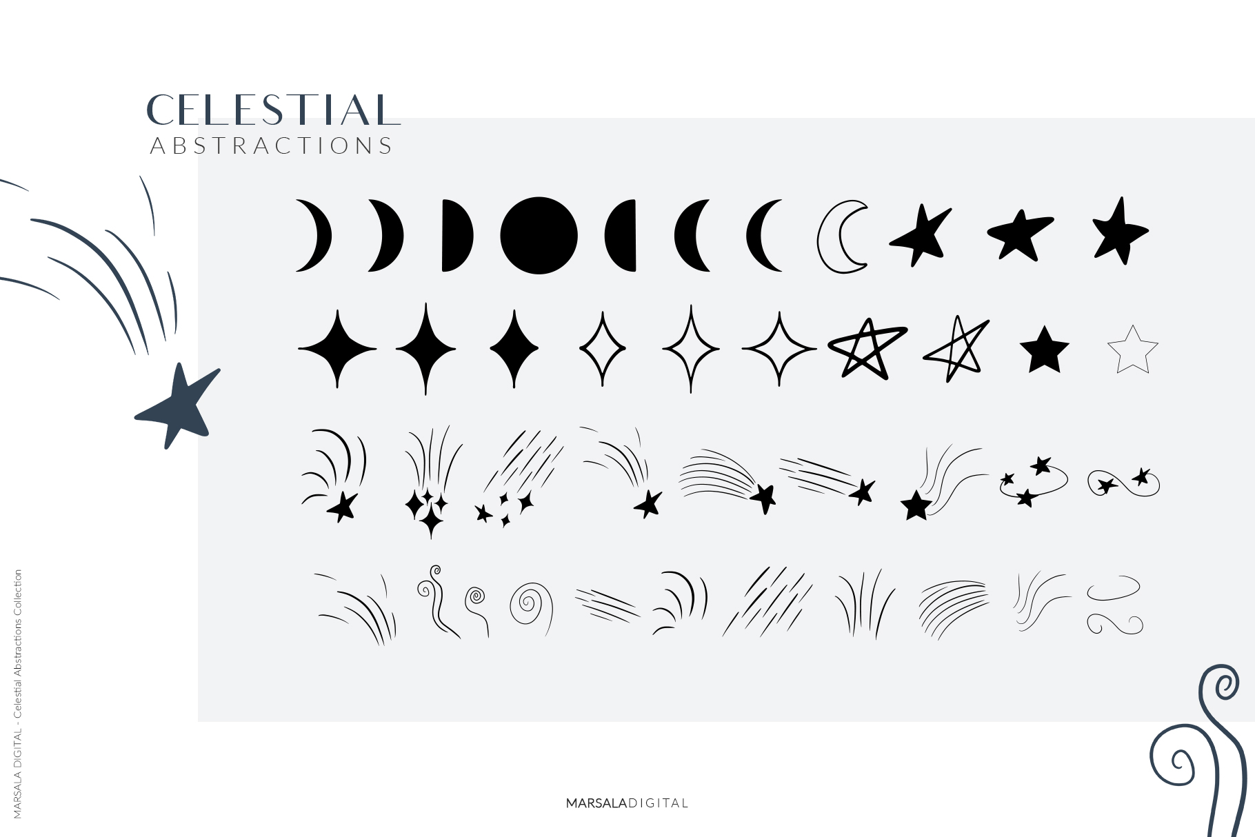 Celestial Abstract Set, Zodiac Stars example image 8