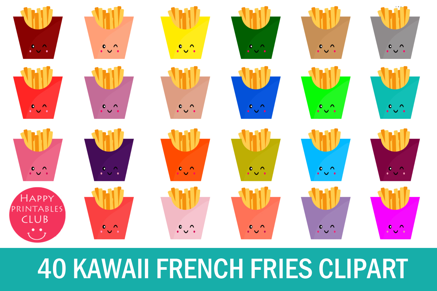 40 Kawaii French Fries Clipart- French Fries Clipart Images example image 1