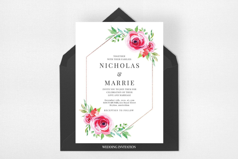 Watercolor Floral Wedding Suite example image 2