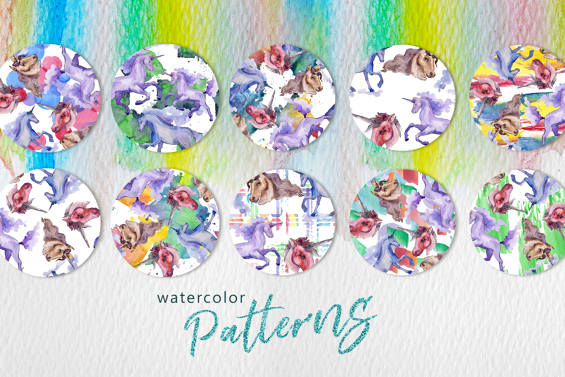 Unicorn Masterpiece Watercolor png example image 3