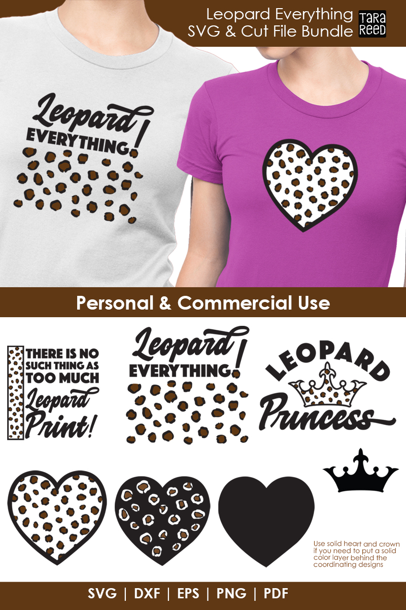 Leopard Everything - Leopard Print SVG and Cut Files example image 2