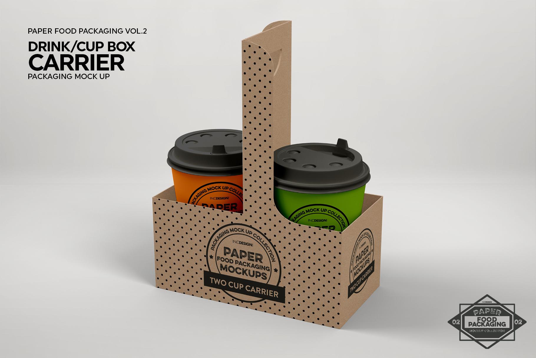VOL.2 Food Box Packaging MockUps example image 9
