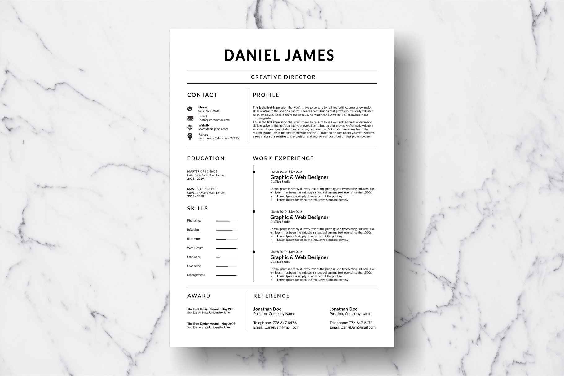 Resume Template Vol. 14 example image 2