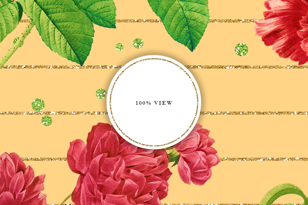 Retro Colors Floral Tileable Backgrounds example image 6