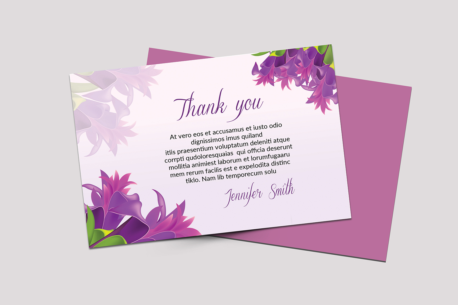 Funeral Thank You Card example image 2