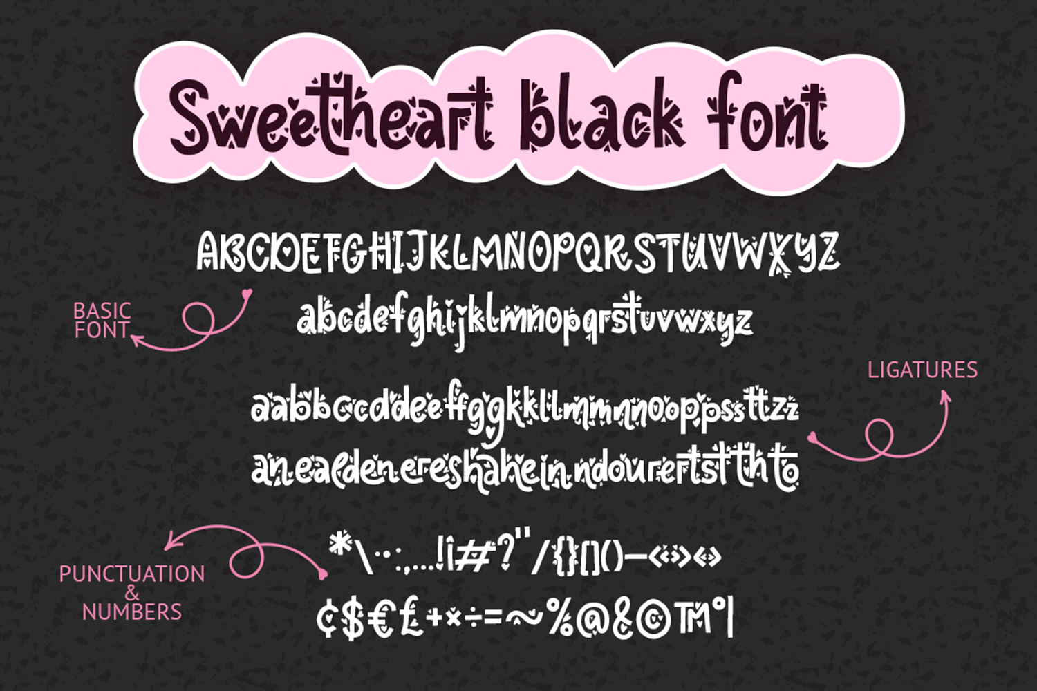 Sweetheart font family example image 11