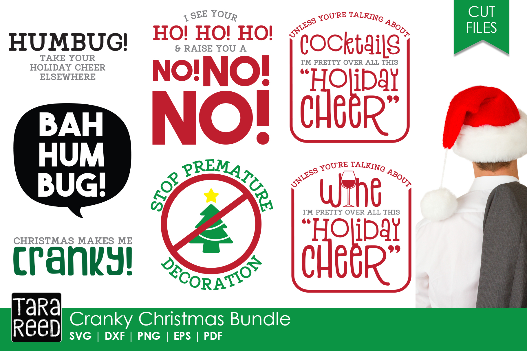 Christmas Humor MEGA Bundle - SVG and Cut Files for Crafters example image 2