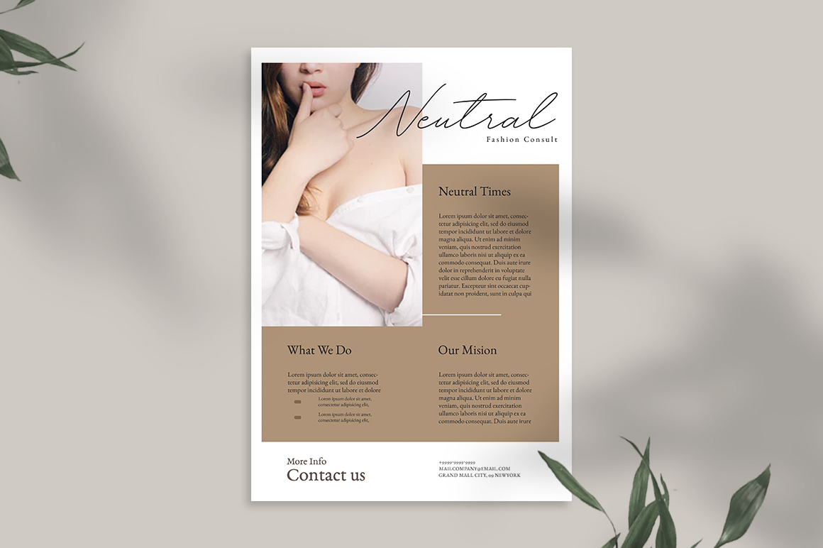 Neutral Flyer Templates example image 7