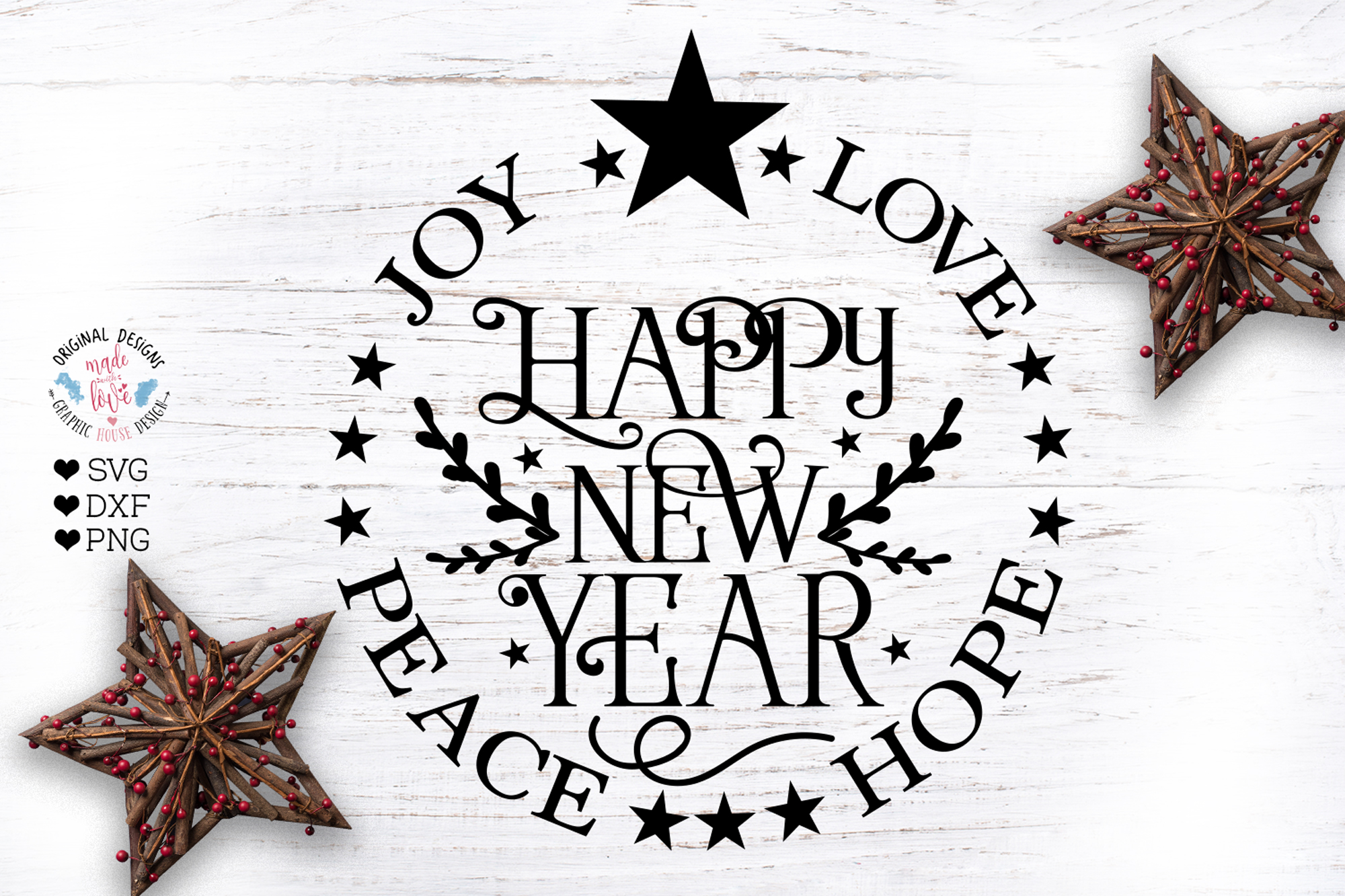 Happy New Year Cut File example image 1
