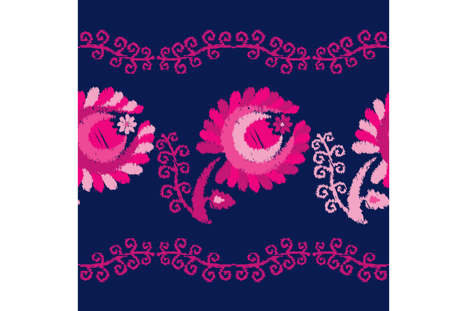 Decorative flowers. Set of 10 seamless patterns. example image 7