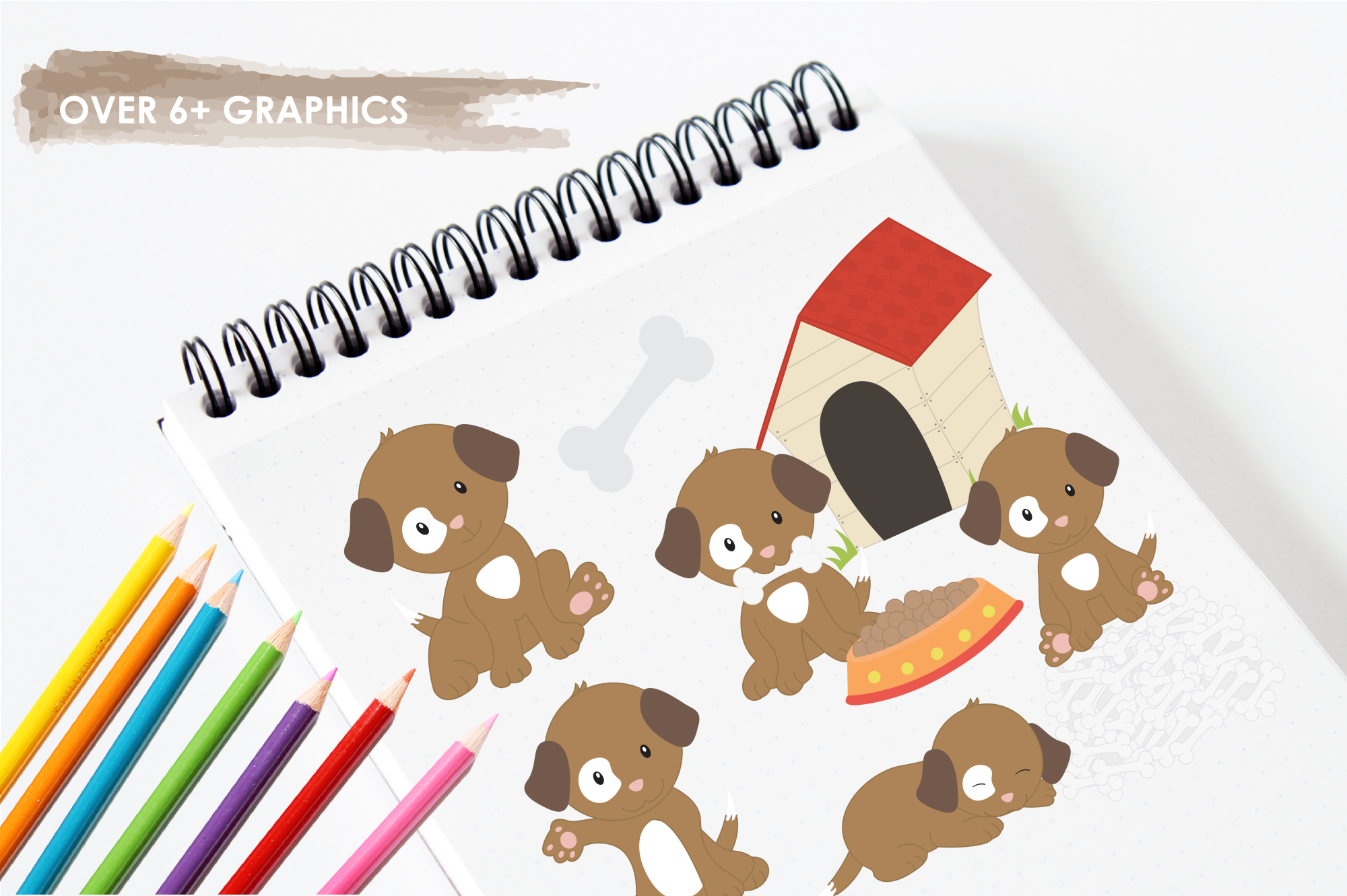 Puppy Playground  graphics and illustrations example image 3