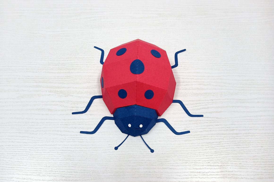 DIY Papercraft Ladybug,Lady bug,Lady beetle,Ladybug svg,dxf example image 2
