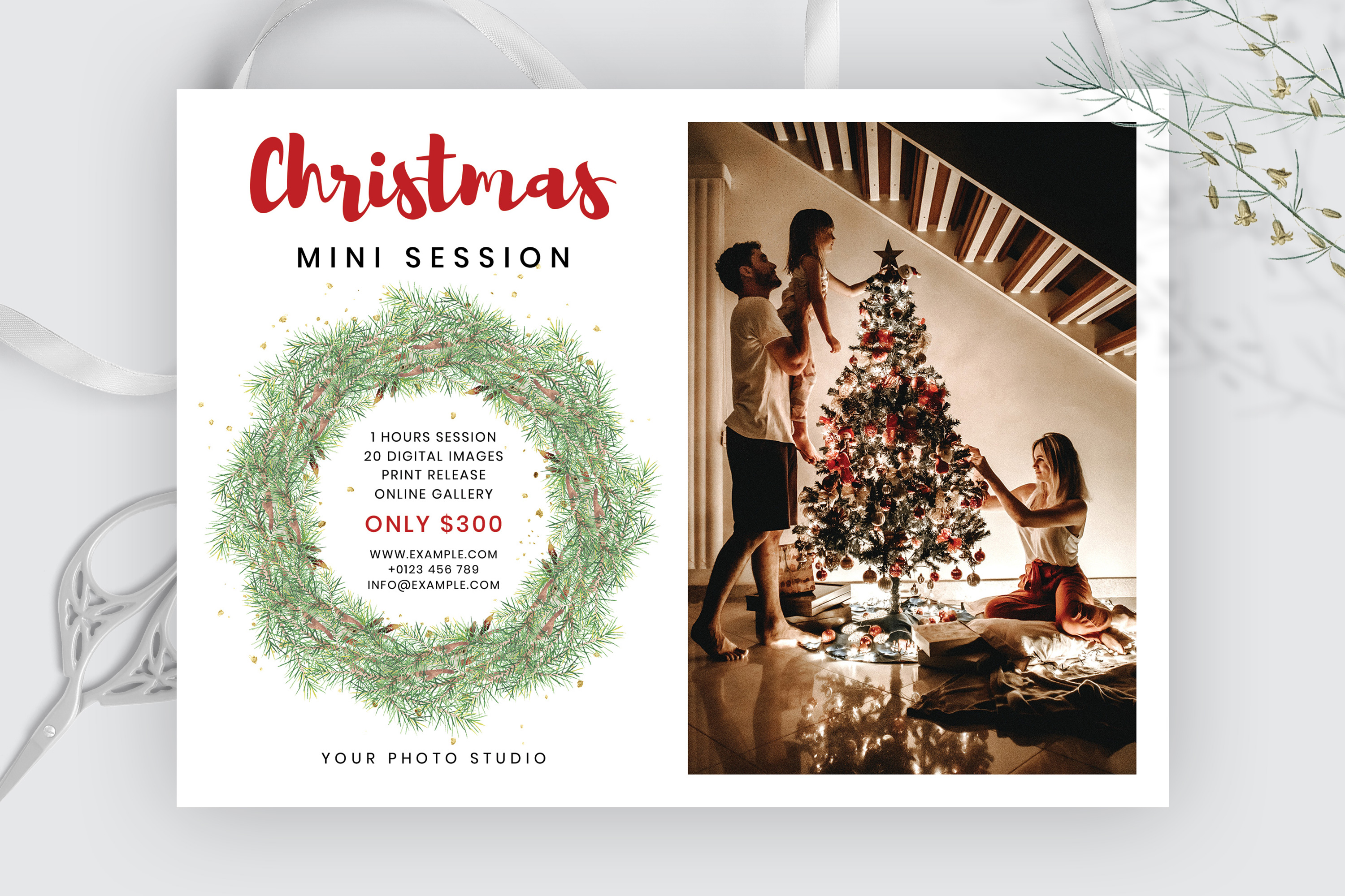 Christmas Mini Session Template example image 2