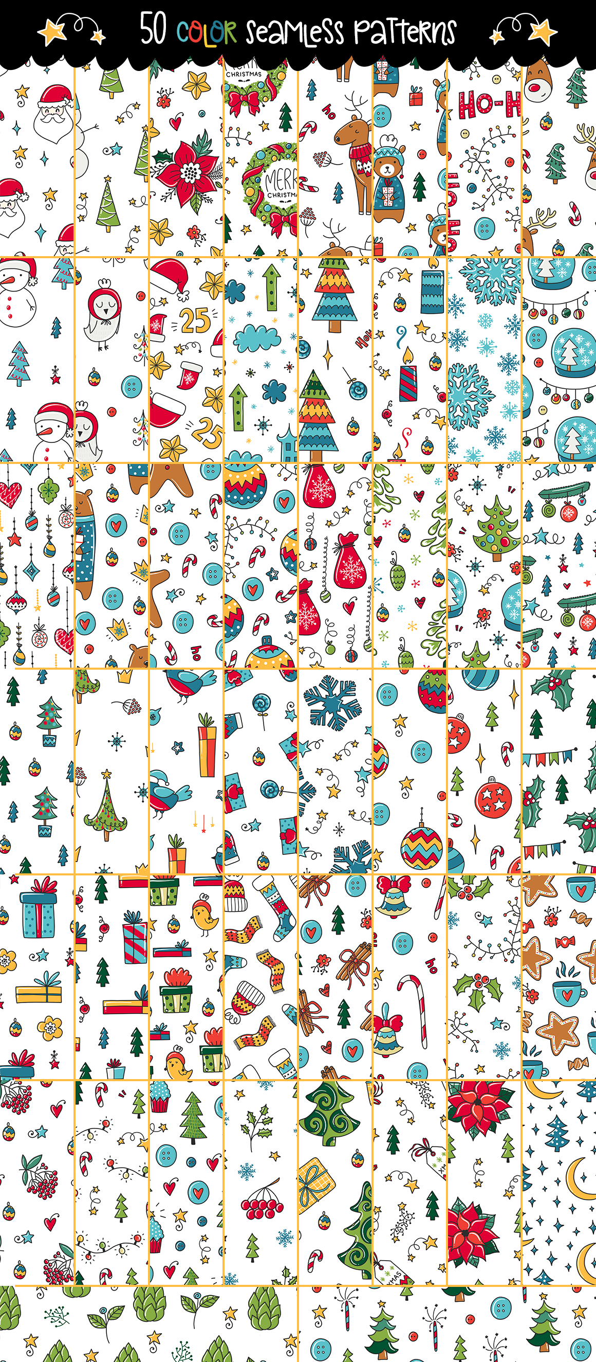 610+ Christmas Doodles - Clipart Set example image 10