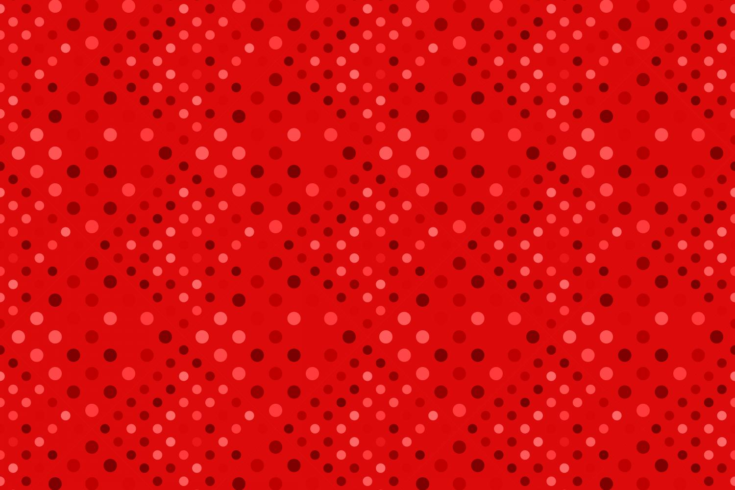24 Seamless Red Dot Patterns example image 21