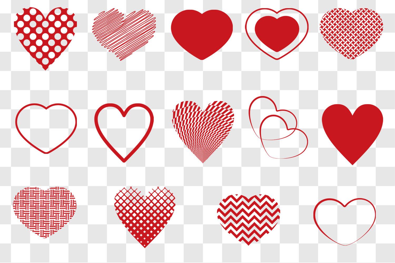 Heart SVG Bundle - Heart Shape Clip Art example image 2