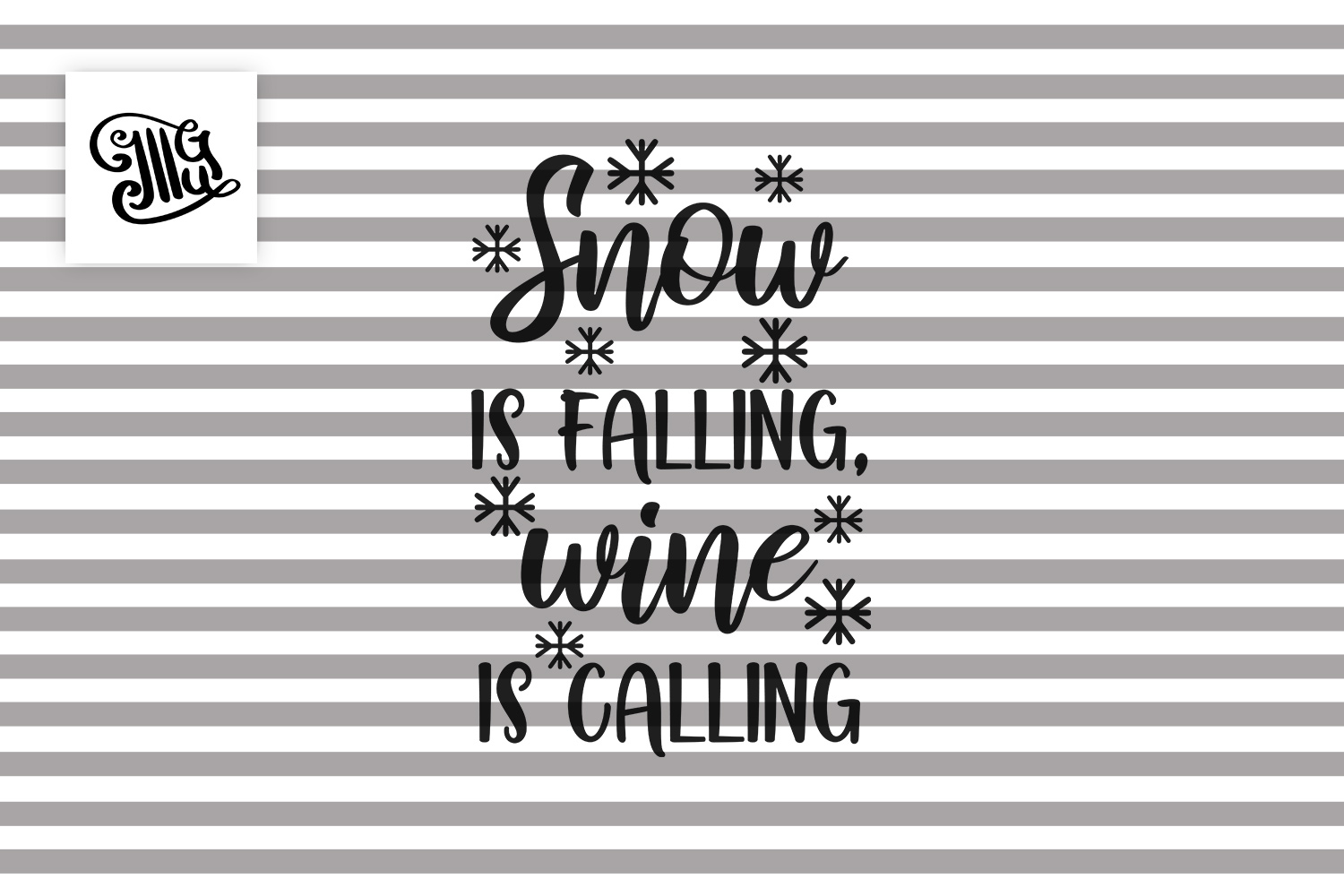 Snow is falling, wine is calling - Christmas wine example image 2