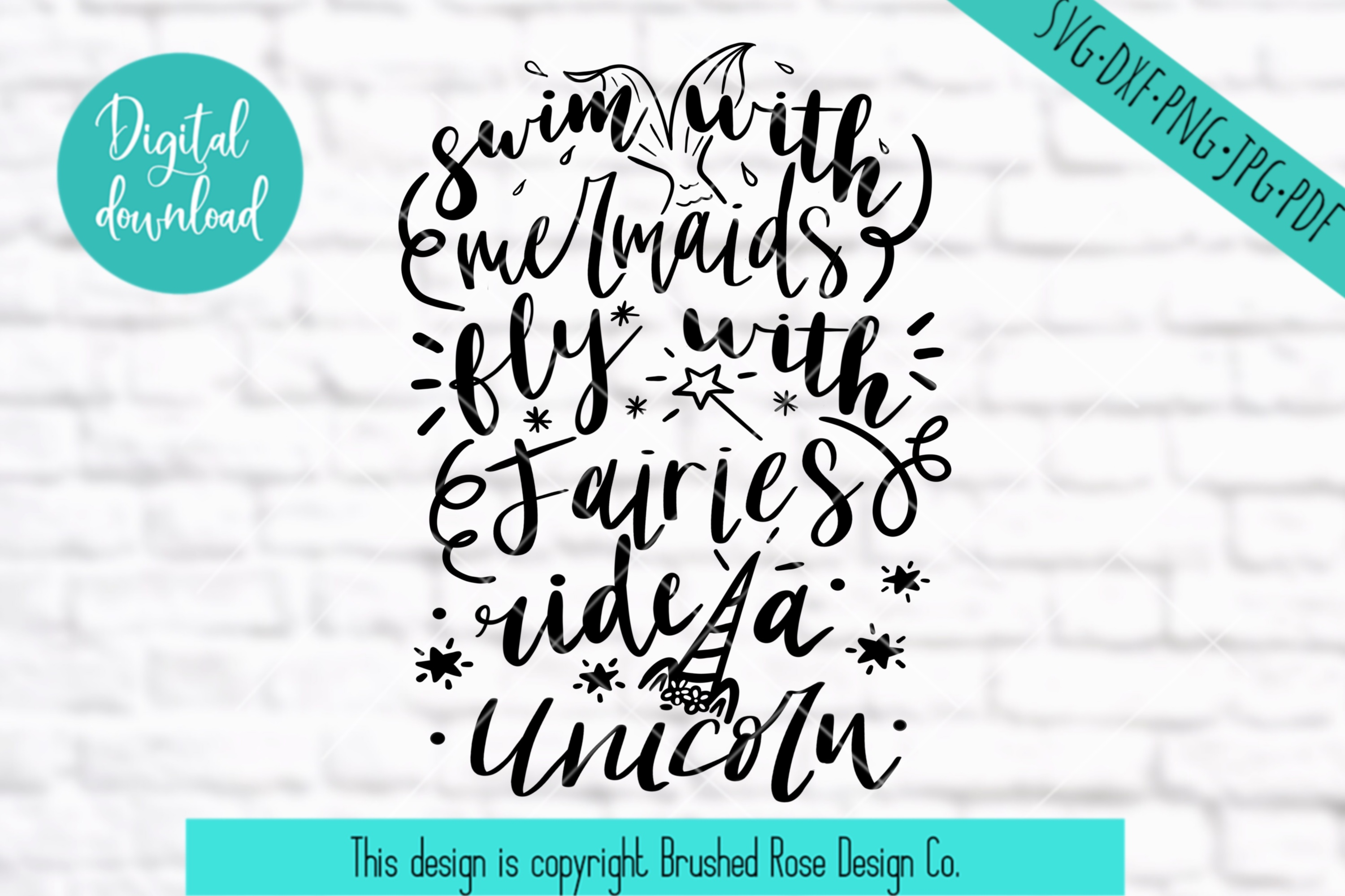 Mermaid svg, unicorn svg, fairy svg, svg files sayings,magic example image 1