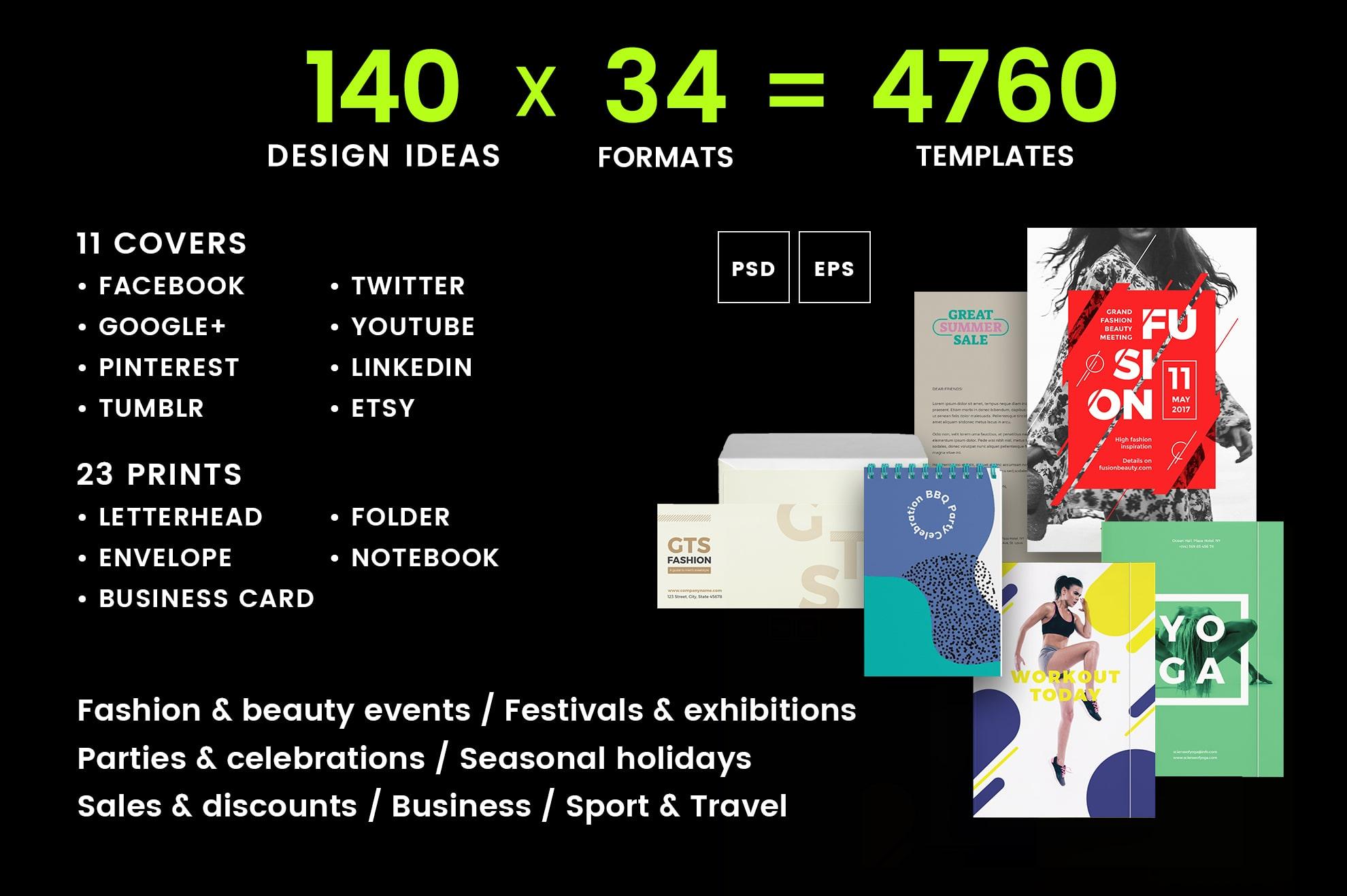 Brand Identity Design Templates Bundle SALE example image 2
