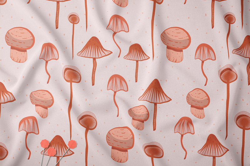 Abstract mushroom collection example image 4