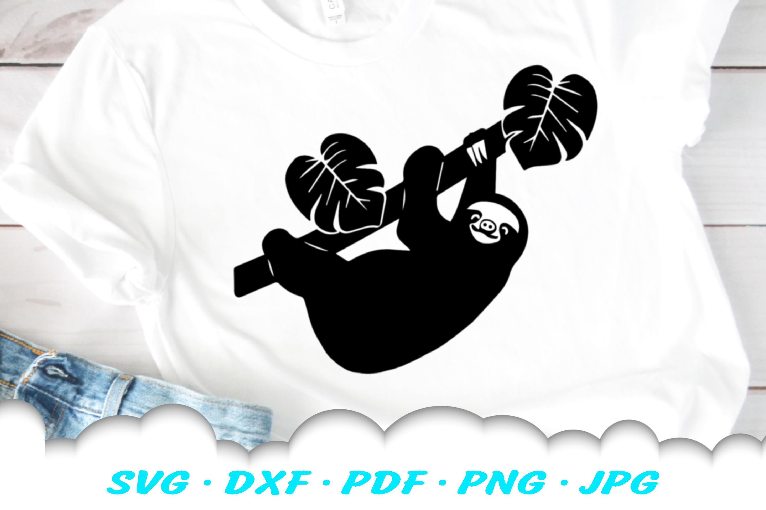 Sloth SVG DXF Cut Files example image 2