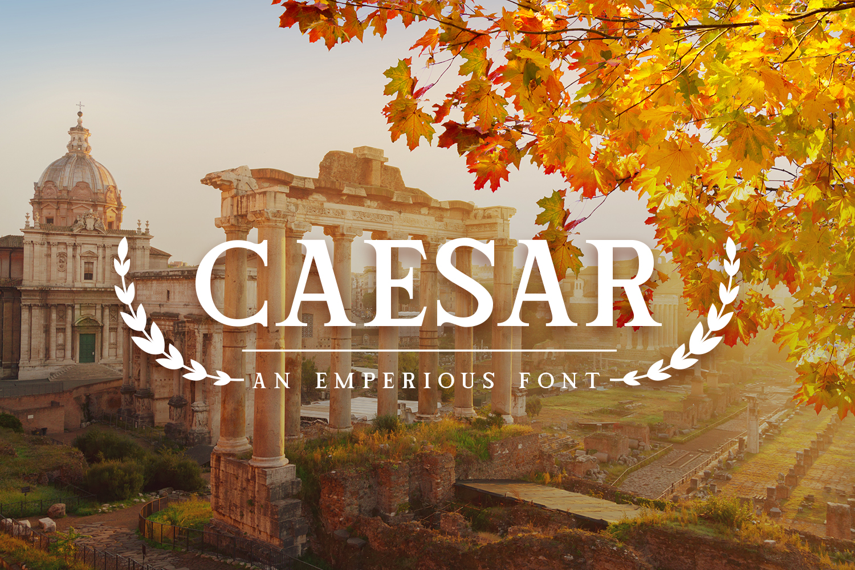 Caesar Font example image 1