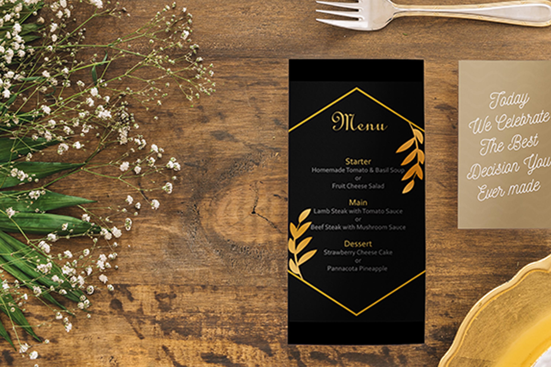 Elegant Golden Leaf Wedding Invitation Kit example image 3