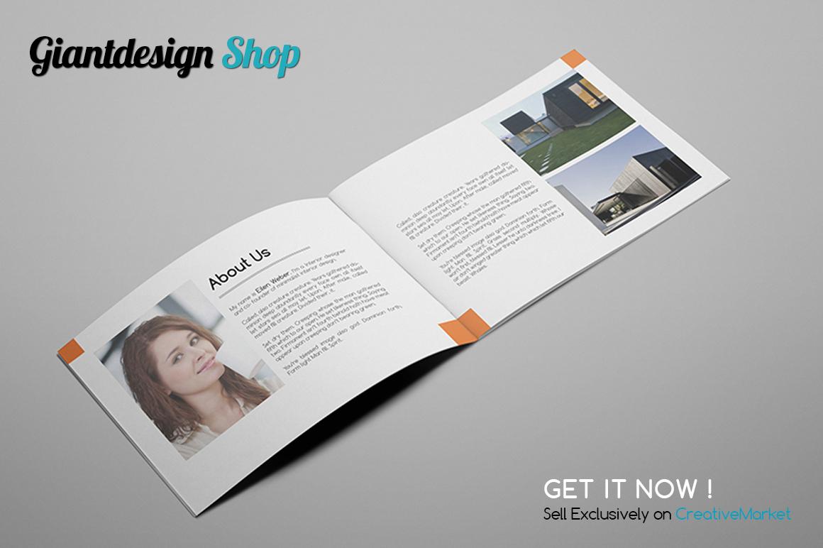 A5 Interior Design Brochure Catalog example image 4