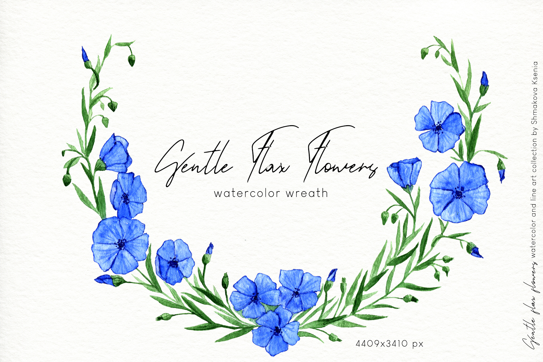 Gentle Flax Flowers example image 11