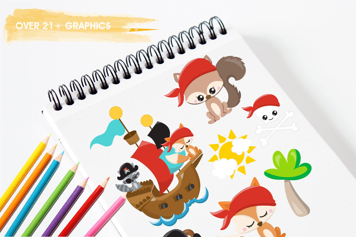 Pirate friends graphics and illustrations example image 3
