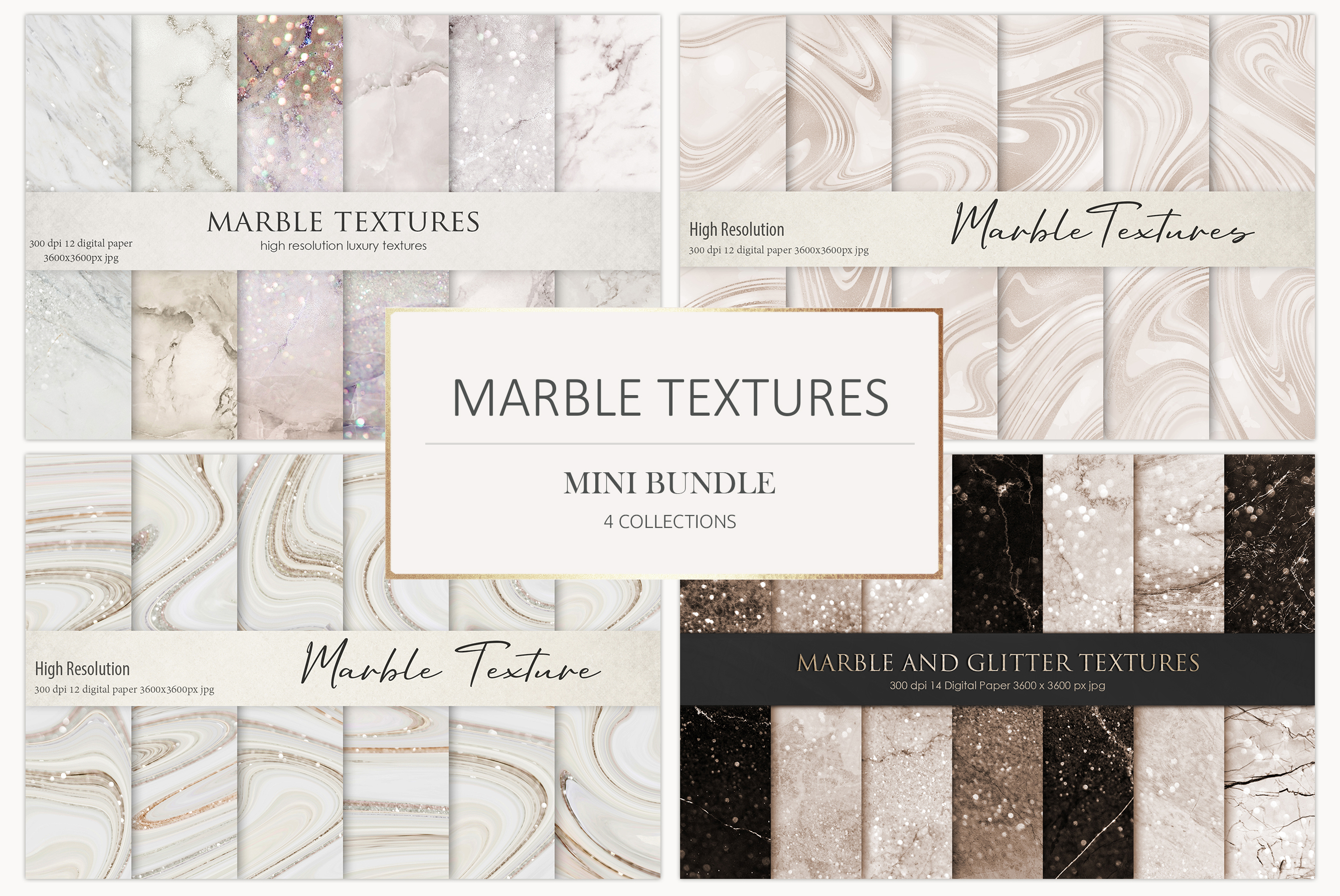 Marble Digital Paper BUNDLE example image 1