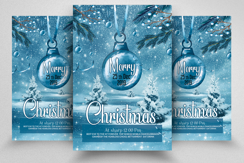 Merry Christmas Flyer Template example image 1