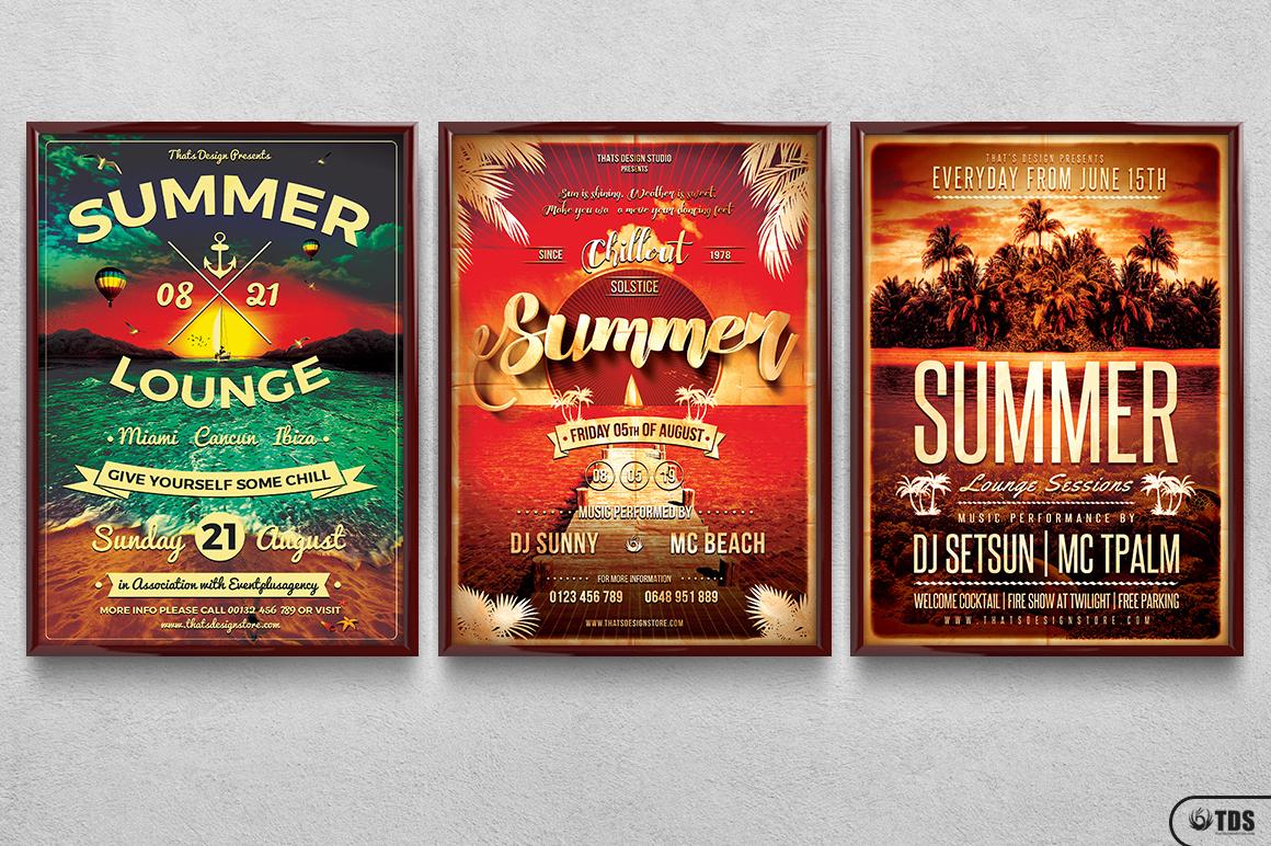 Summer Lounge Flyer Bundle example image 11