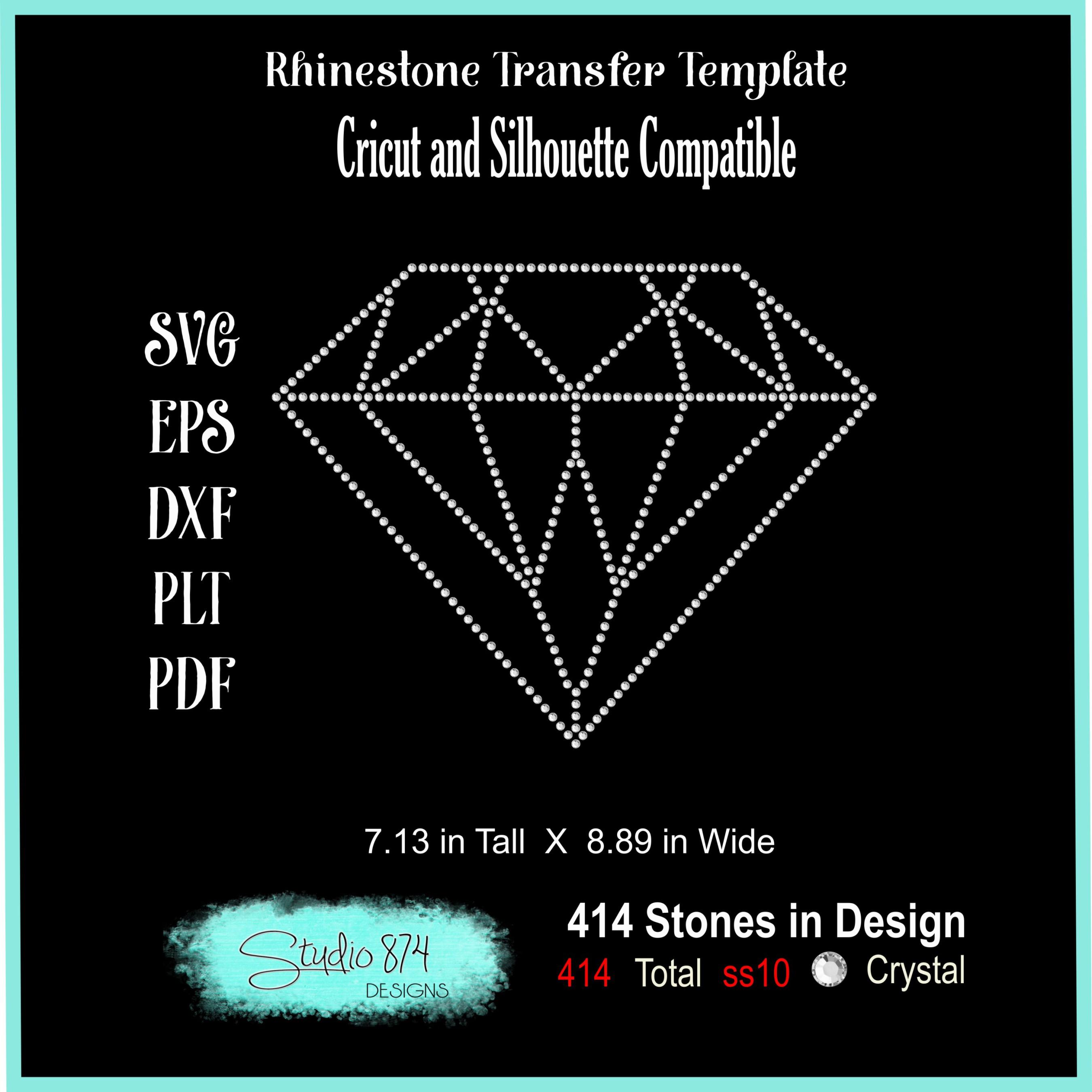 Diamond Rhinestone SVG Template - 9 Inch R1 example image 2