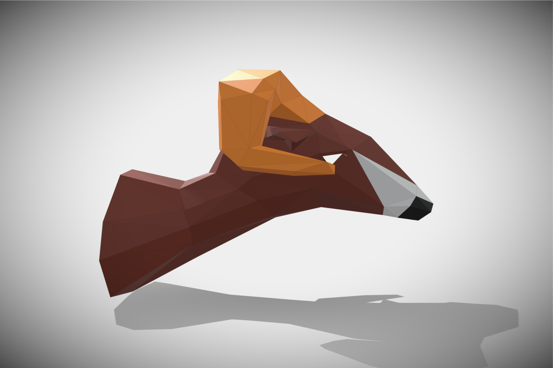 RAM DIY Paper Sculpture Animal head Trophy example image 4