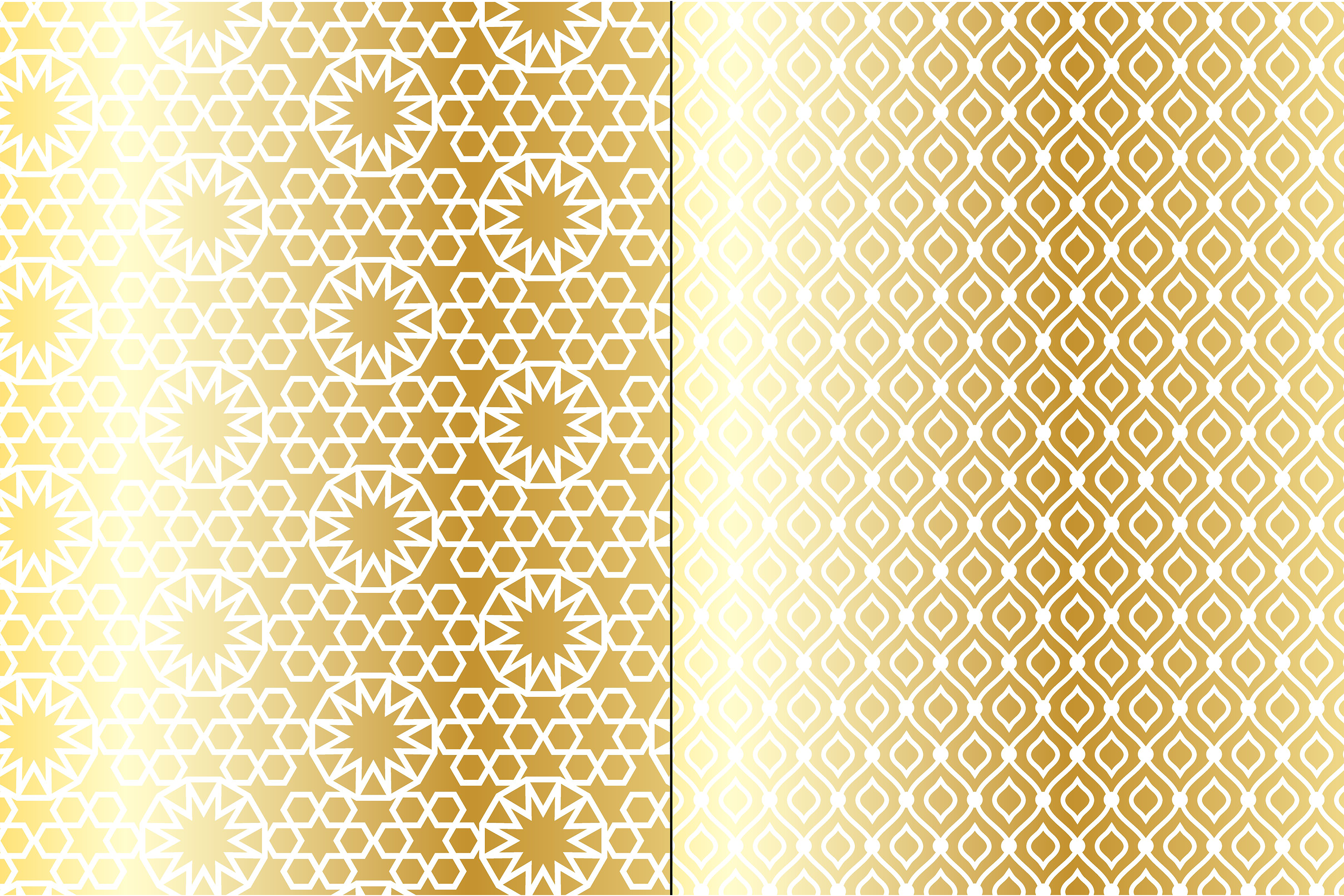 Metallic Gold Moroccan Patterns example image 3
