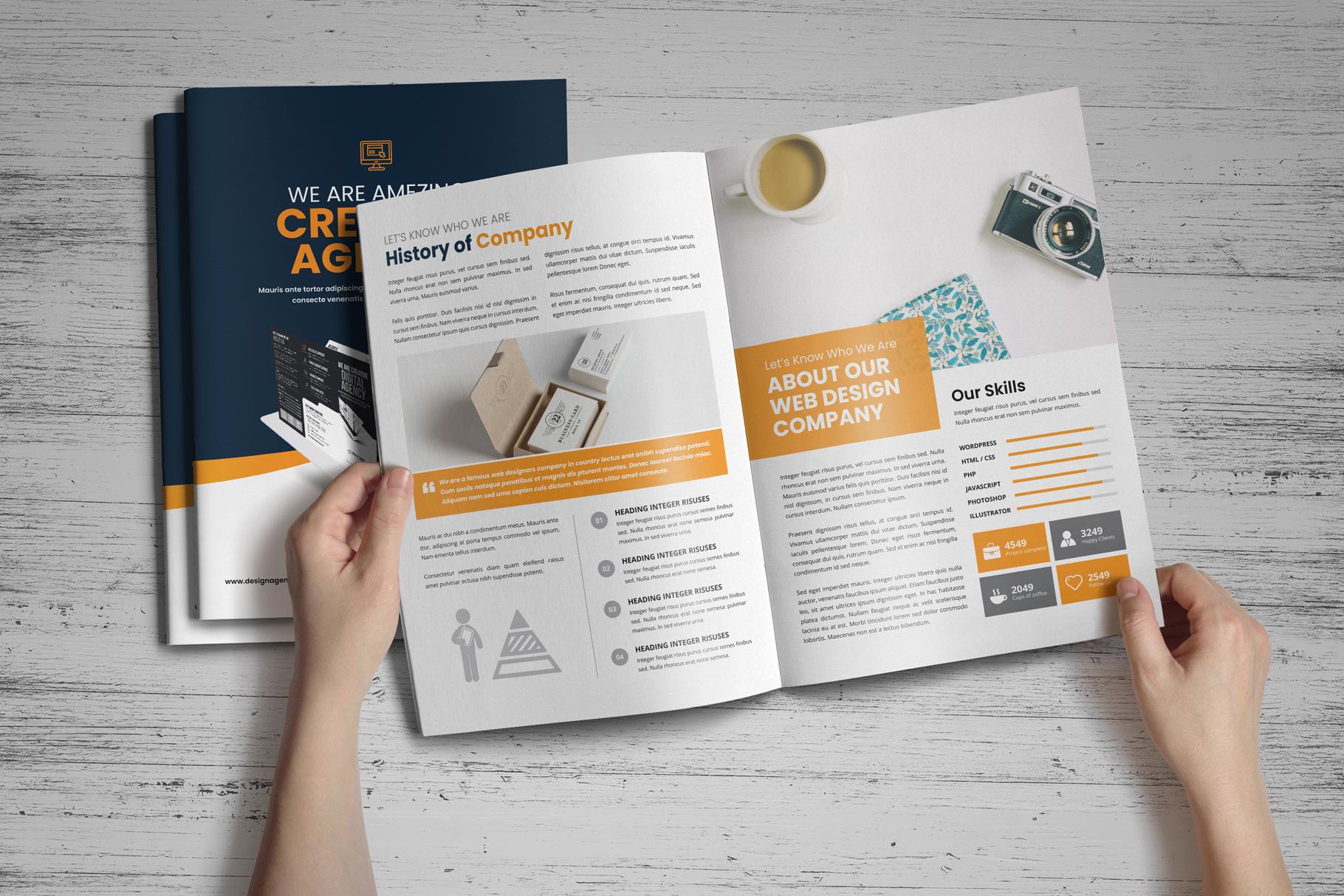 Portfolio Bifold Brochure Design v1 example image 2