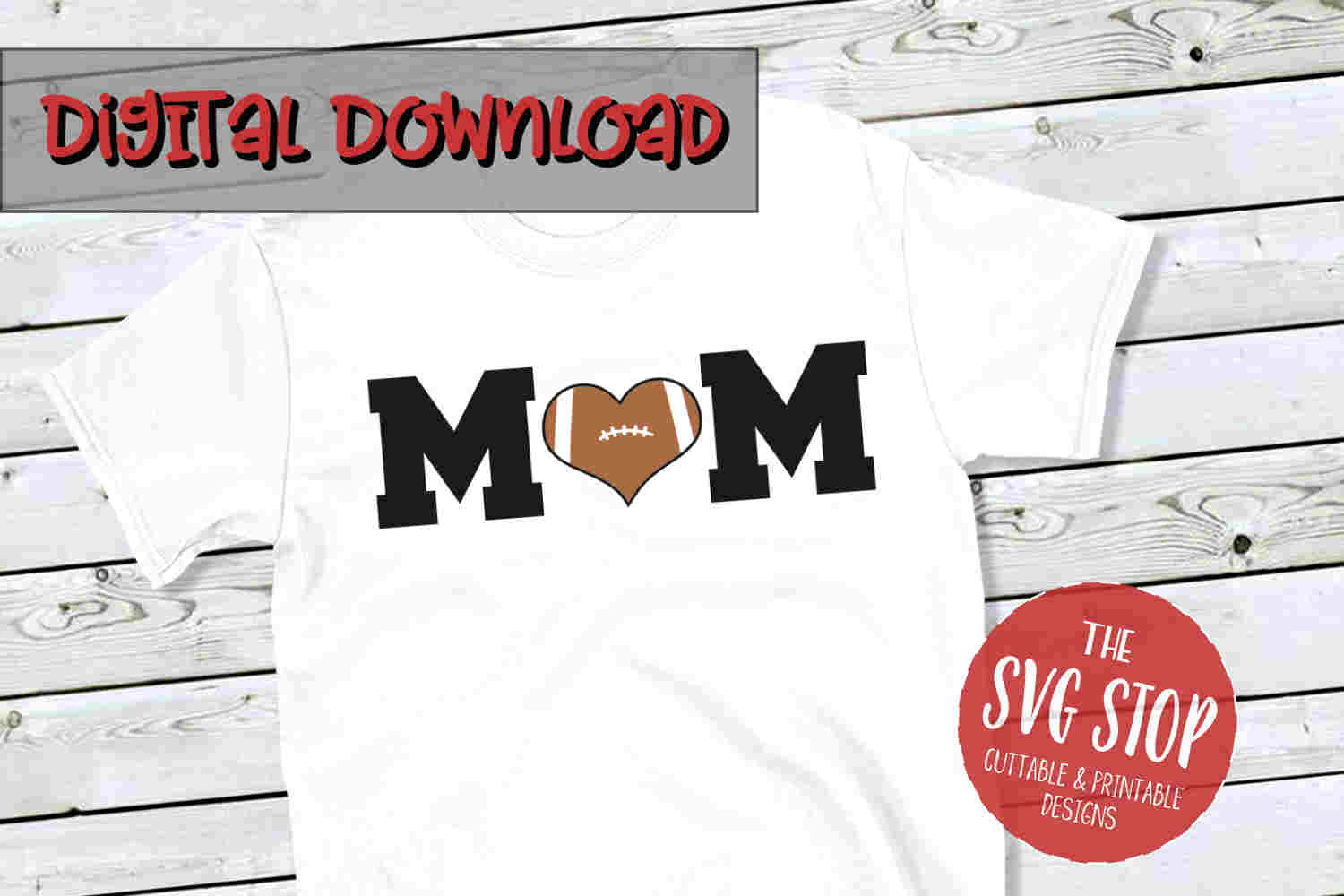Mom Football 4-SVG, PNG, DXF example image 1