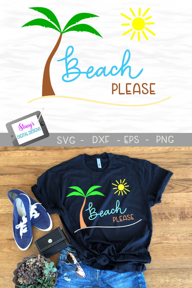 Beach Please SVG - Beach SVG File example image 4