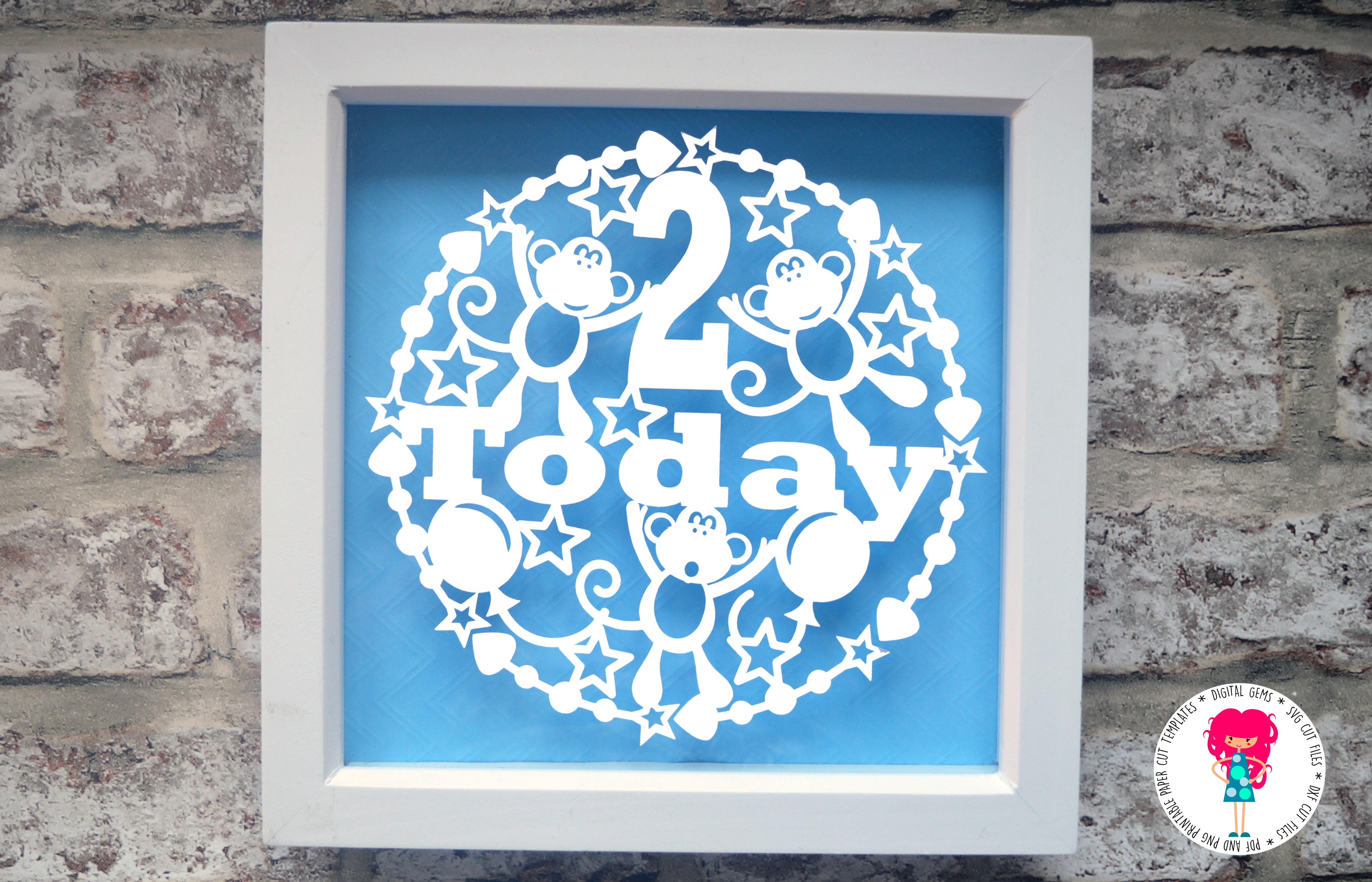 2 Today Paper Cut SVG / DXF / EPS files example image 2