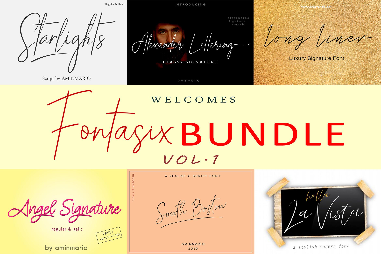 FONTASIX BUNDLE // VOL.1 example image 1