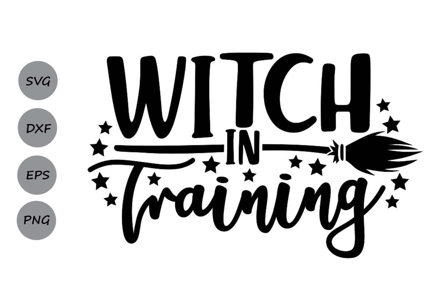 Witch in Training Svg, Halloween Svg, Witch Svg. example image 1