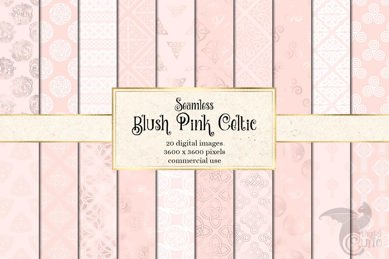 Blush Pink Celtic Digital Paper example image 1