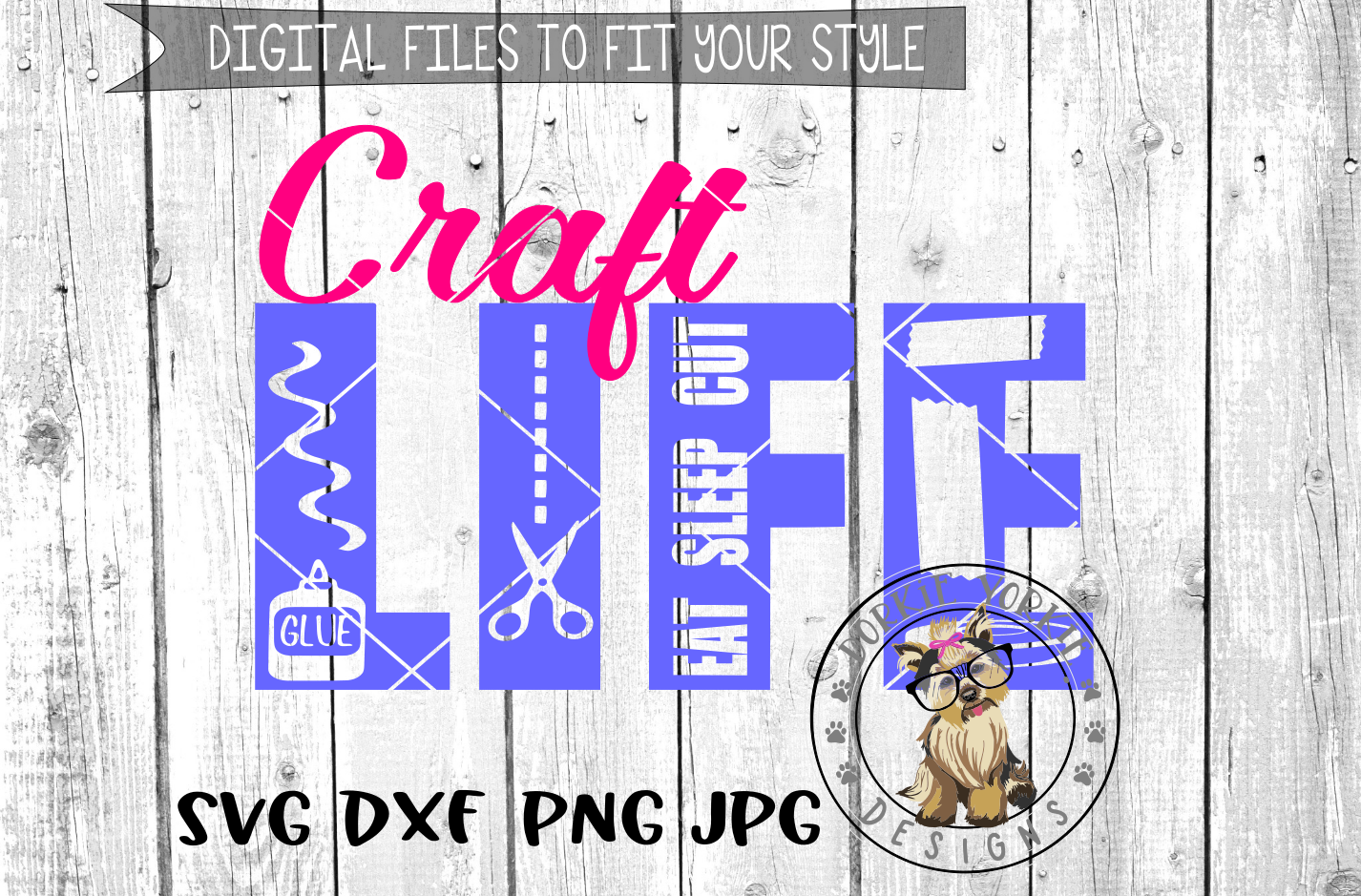 Craft Life - SVG cut file example image 1